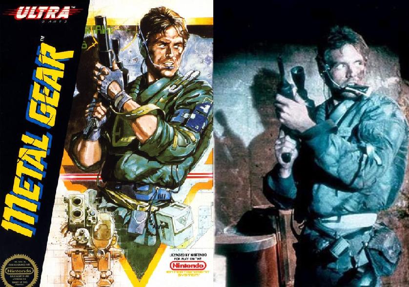 Okładka Metal Gear i zdjęcie z filmu Terminator