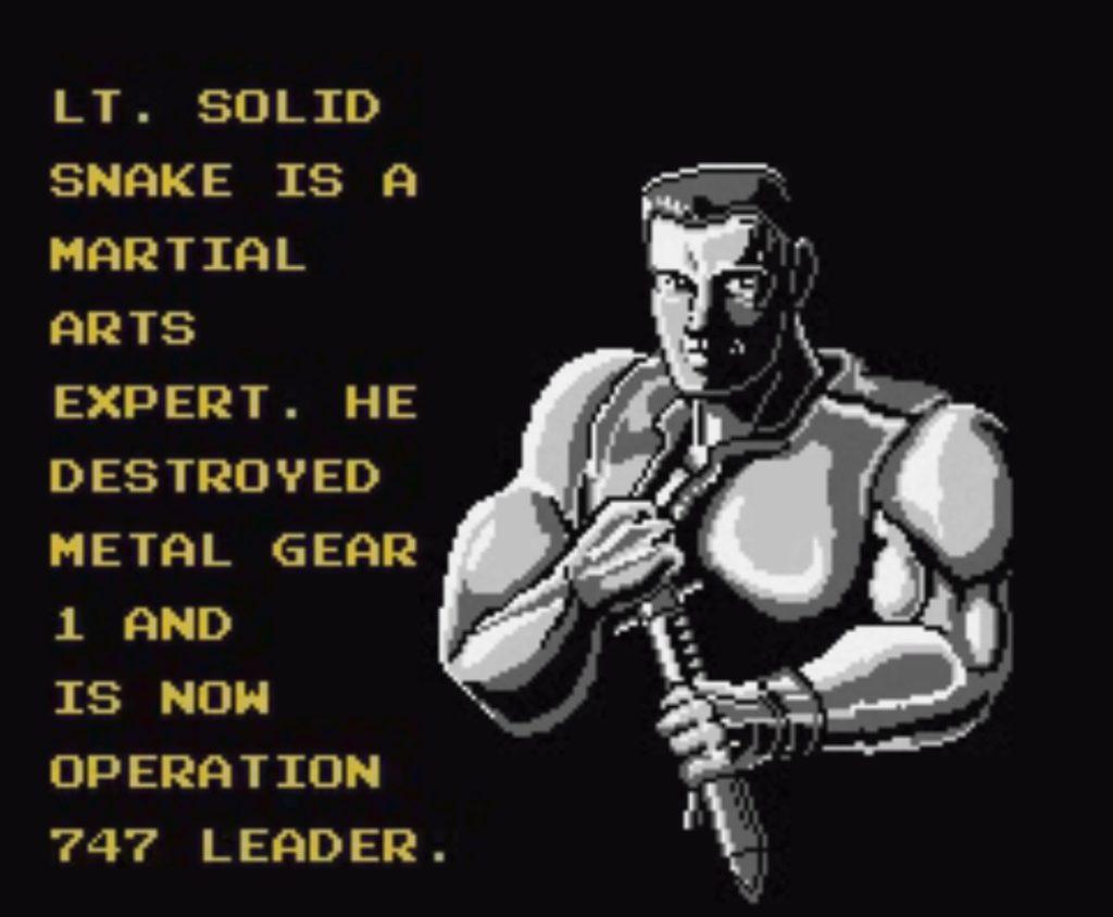 Solid Snake w grze snake's revenge