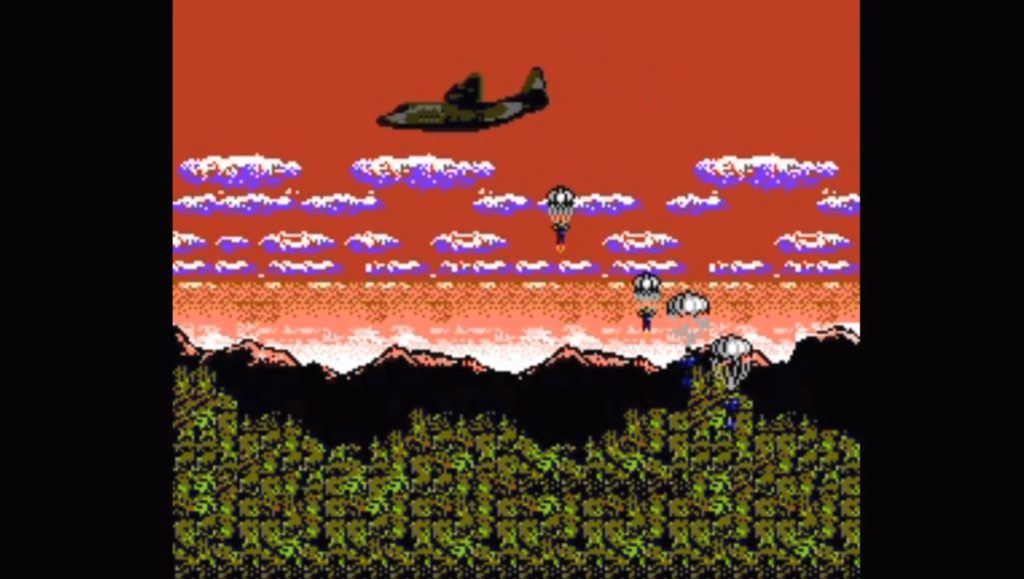 Metal Gear Nes Intro lądowanie