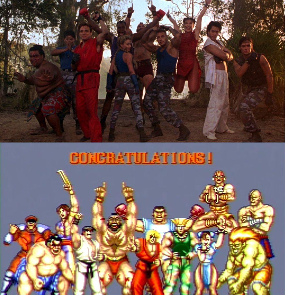 Street Fighter zwyciężka poza film gra