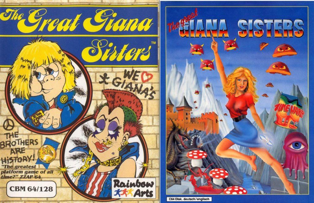 Giana sisters okładka c64 amiga