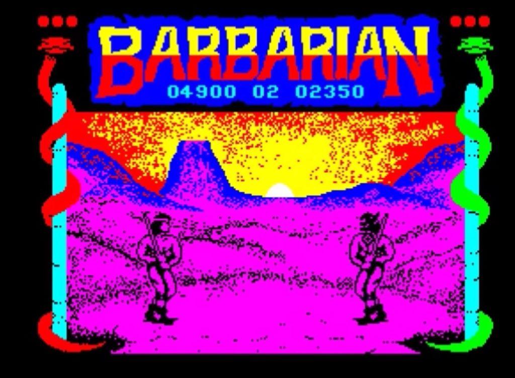 Barbarian w wersji na ZX spectrum
