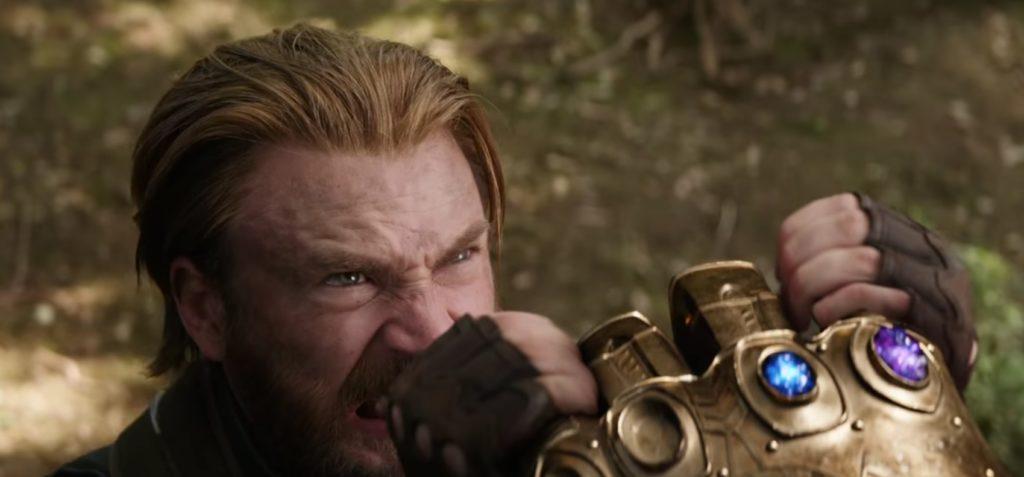 Kapitan Ameryka siłuje się z Thanosem