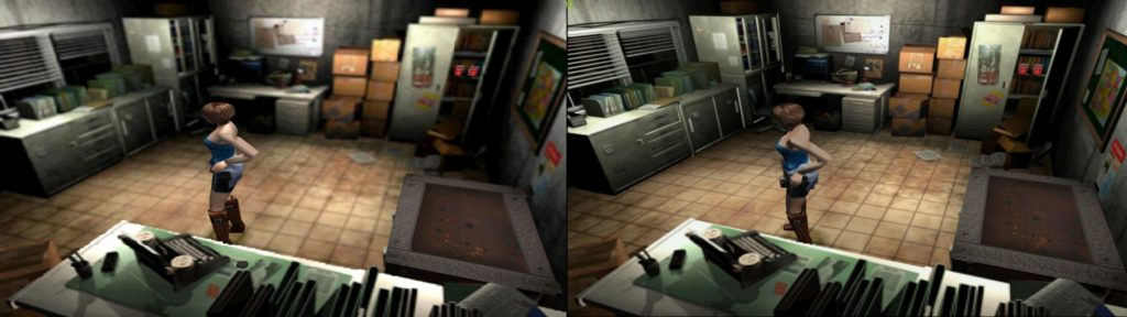 Resident evil 3 porównanie psx gamecube