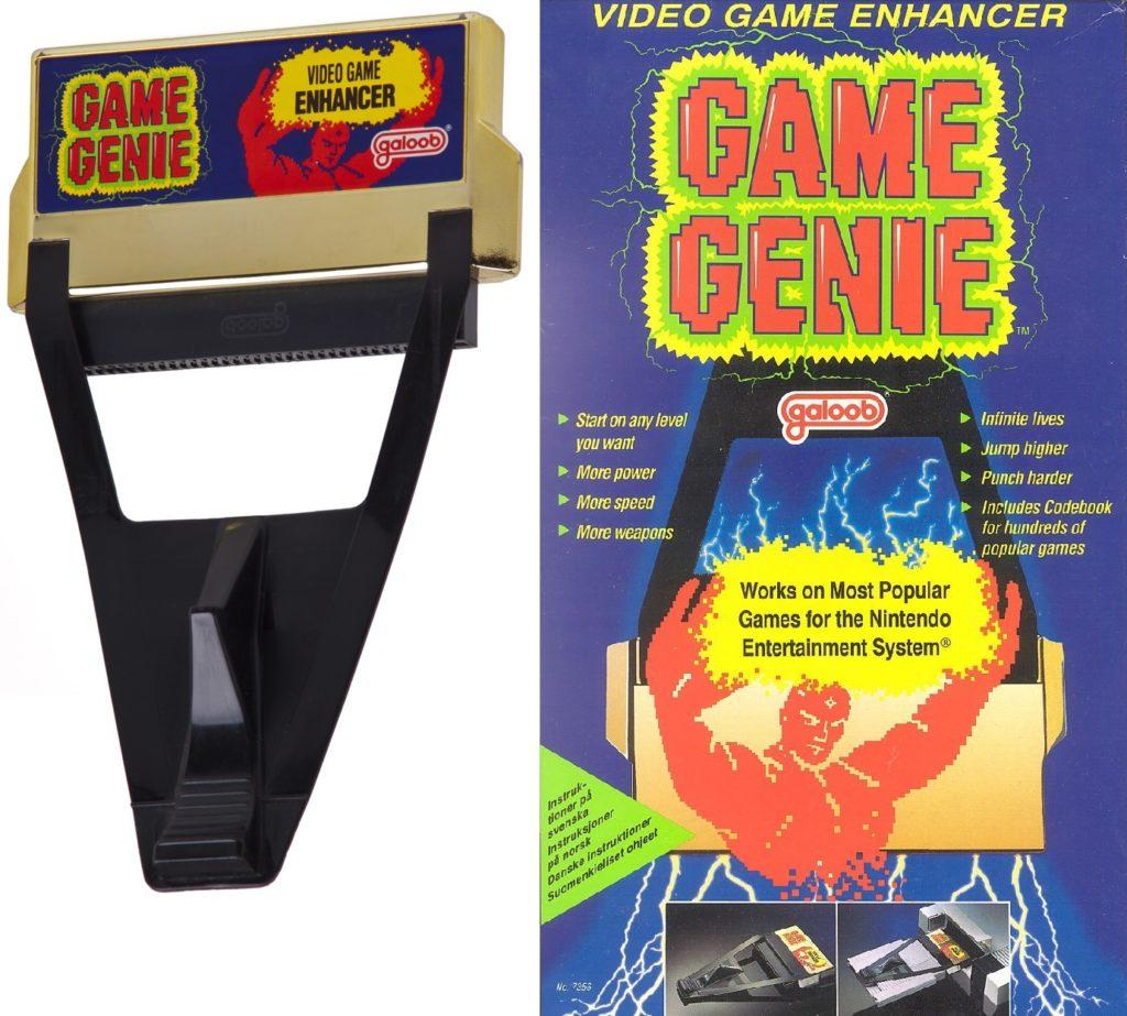Game genie i pudełko