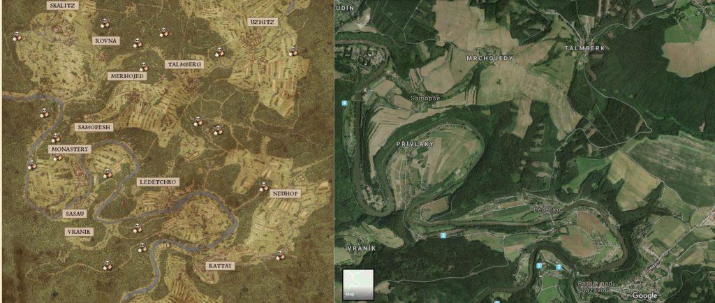KCD mapa