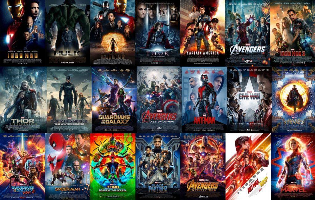 Plakaty filmów MCU
