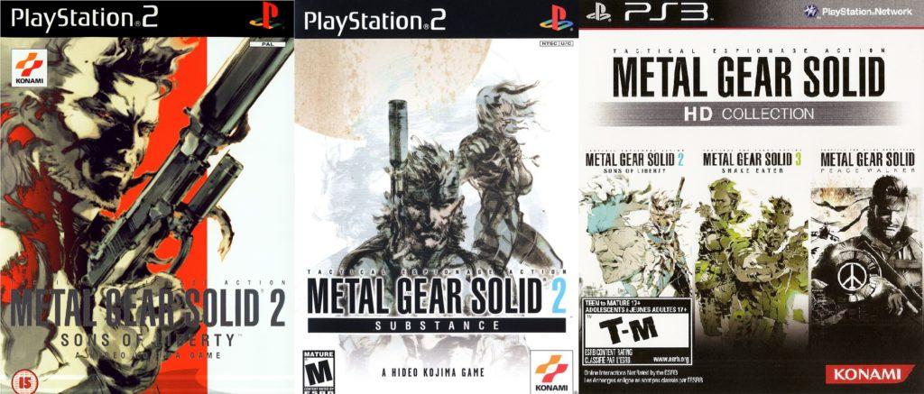 MGS2 edycje