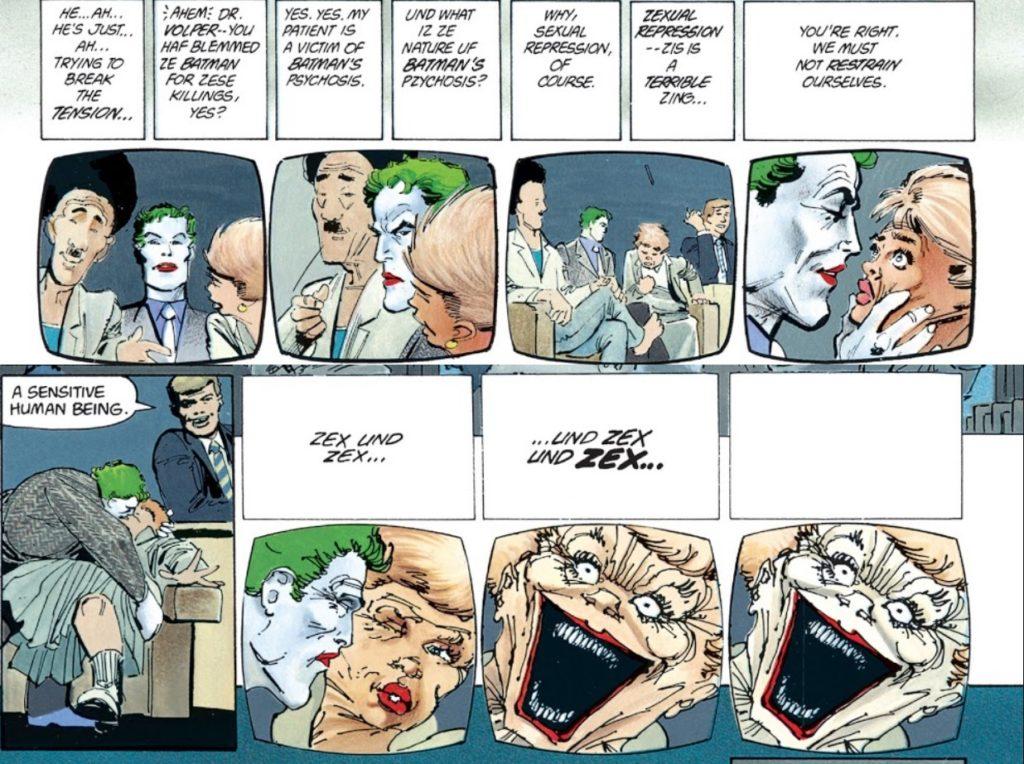 Joker całuje teraputkę