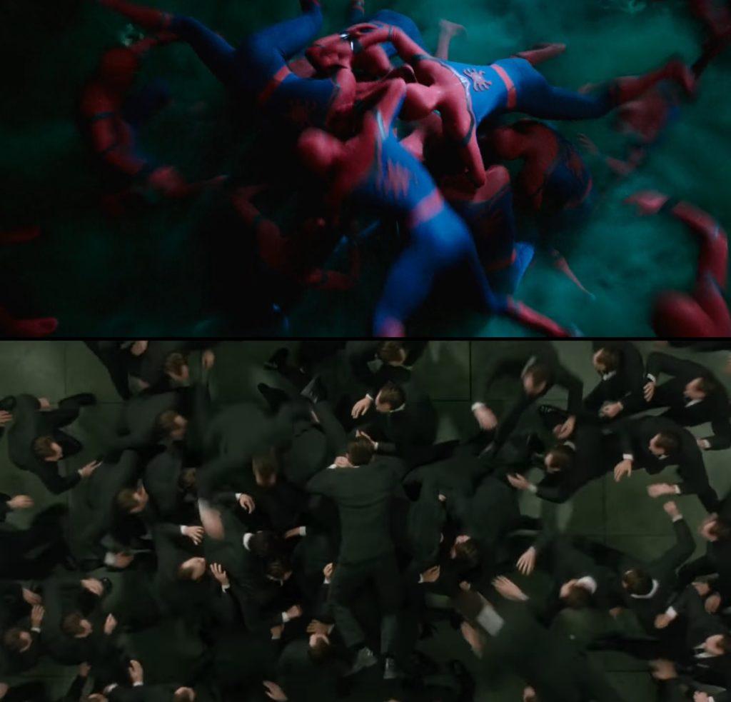 Spiderman nawiązanie Matrix