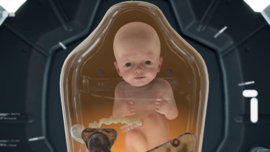 Łącznikowe dziecko Death stranding