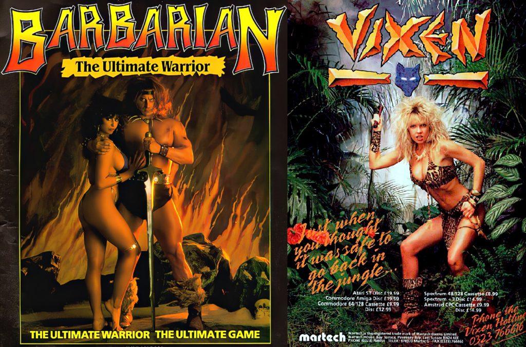 Barbarian i Vixen okładki