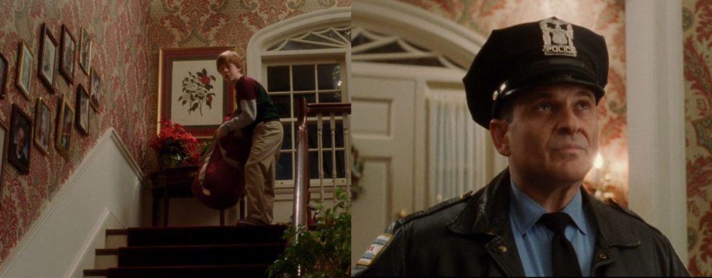 Kevin sam w domu Harry jako policjant