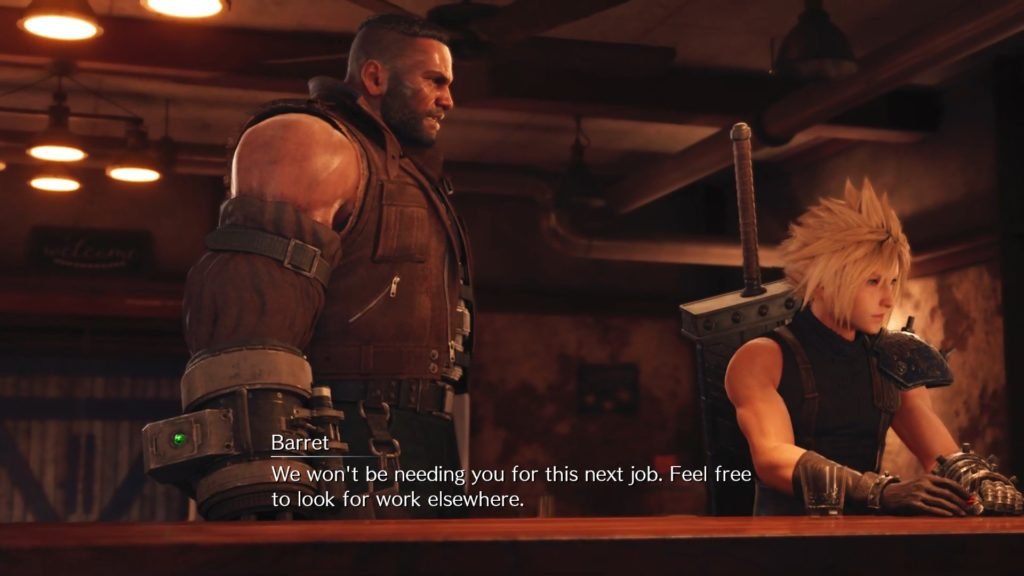 Barret i Cloud final fantasy