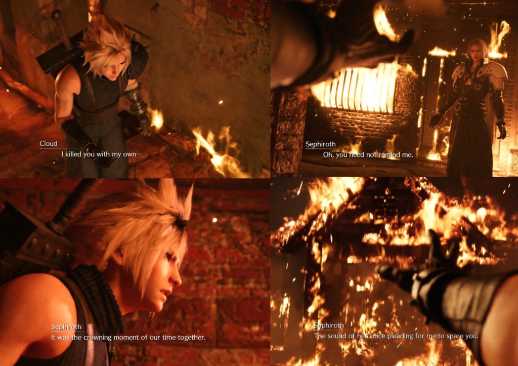 Cloud i Sepiroth Final fantasy 7 remake