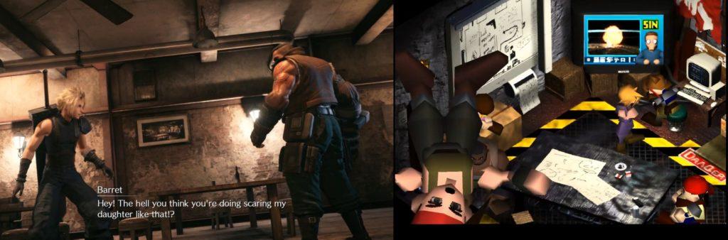Final Fantasy 7 Barret porównanie