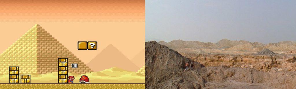 Desert land super mario