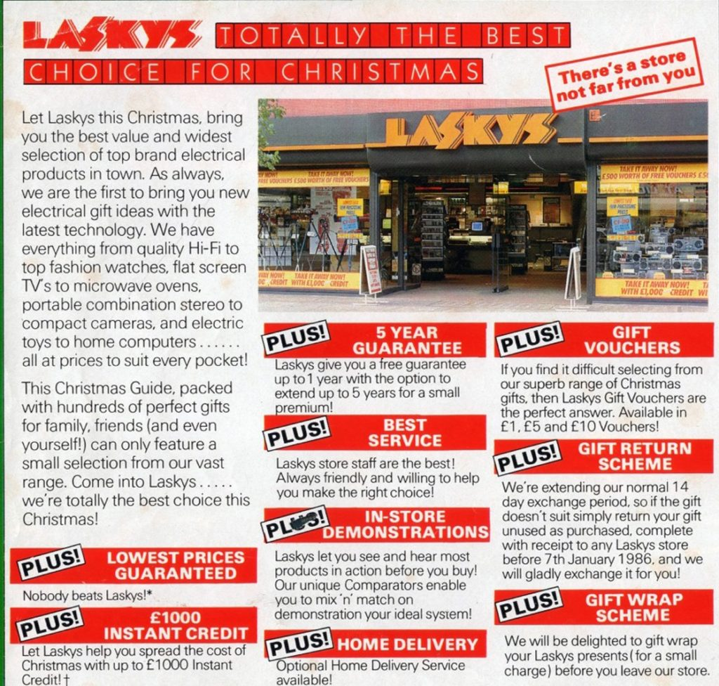 Reklama sklepu Laskys