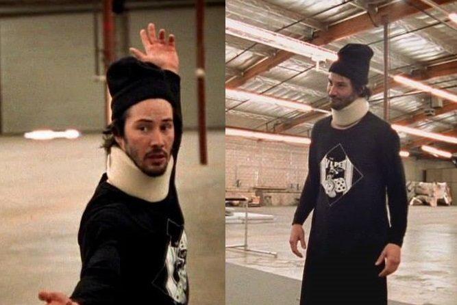 Keanu Reeves trening Matrix