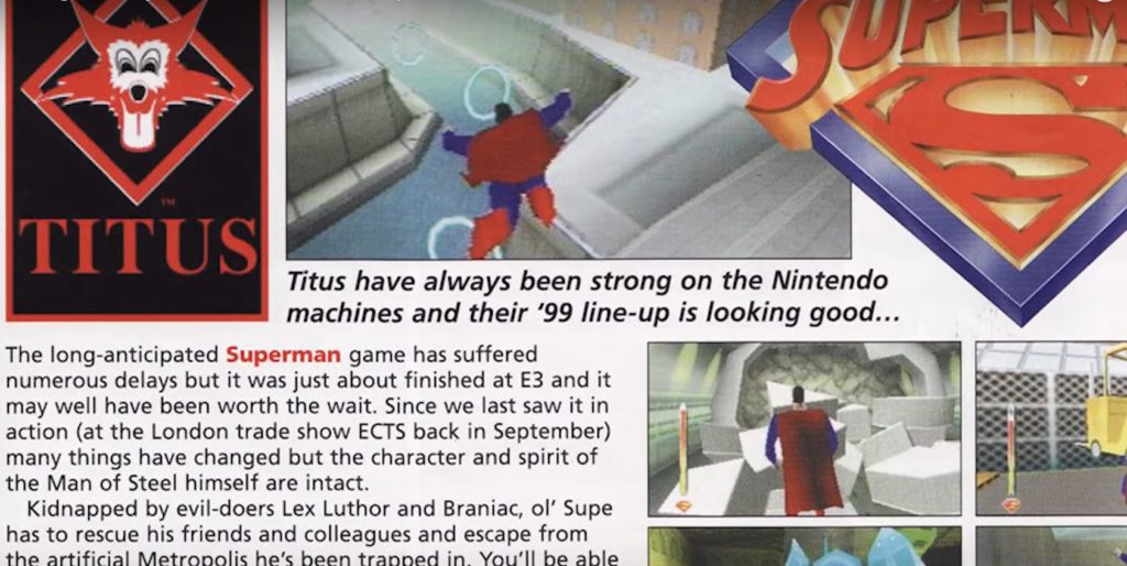 Superman 64 Nintendo gaming magazine