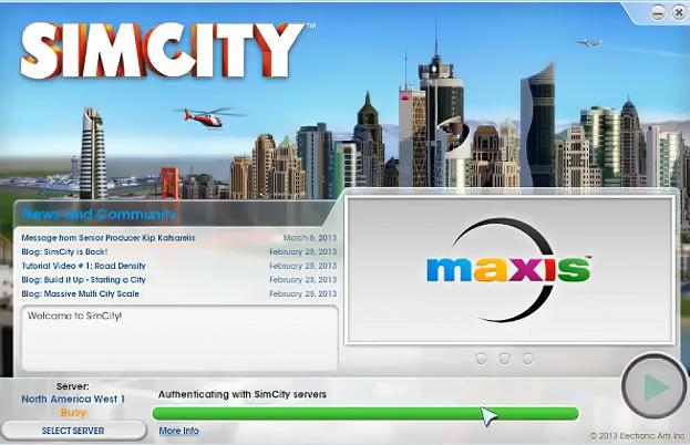 Simcity 2013 problemy z serwerami