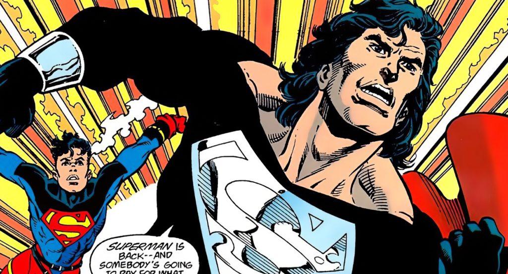 Superman czarny kostium